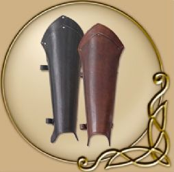 LARP Lancelot leather greaves